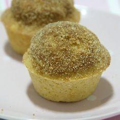 Nueva receta en #mysweetcakeland ! Muffins de canela rellenos de Nutella! Son como donuts, Dios!!!! #muffins #Nutella #donuts #canela #sweet #breakfast