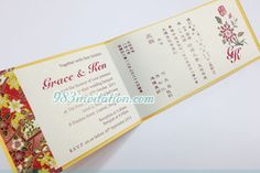 invitation with Chinese and English wording