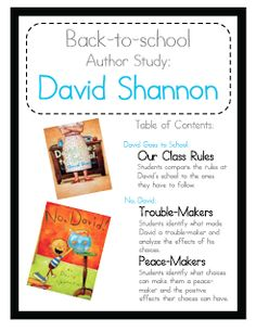 Follow this blog for FREE back to school book studies: David Goes to School, No David, Miss Nelson is Missing, and The Teacher from the Black Lagoon!