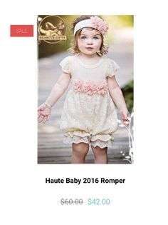 Haute Baby just out did themselves with their spring line. This one piece romper is just precious, and the sparkle ( that not visible in this photo) is just awesome. Bear Cub Gifts has sizes 0-3, 3-6m, 6-9m, 12m, 18m & 24. Originally $60, we have an Easter Special of $42.00. We also have the matching headband for $22.