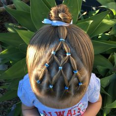 Elastics with a rope twist bun for swimming lessons hair instahair Easy Toddler Hairstyles, Childrens Hairstyles, Baby Girl Hairstyles, Princess Hairstyles, Curled Hairstyles, Twist Pony, Rope Twist, Girls Hairdos, Curls For Long Hair