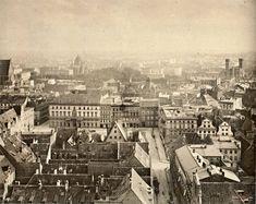 Wrocław - widok z wieży bazyliki św. Elżbiety na południe (1870-1880)