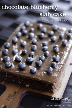 Choc Blueberry Slab Cake #treat #food