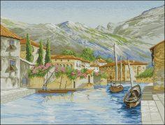 Город на воде схема вышивки крестом