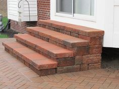 "Check out our internet site for even more relevant information on ""patio pavers diy"". It is an outstanding area to learn more. Brick Steps, Wood Steps, Concrete Steps, Patio Blocks, Front Porch Steps, Patio Stairs, Outdoor Steps, Garden Steps, Brick Patios"