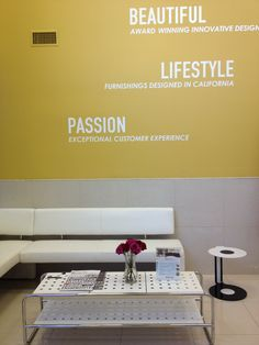 We love color! Our true passion for color, creativity, and home furnishings design runs deep. Check out the interior design of the Abbyson Living beautiful front office!