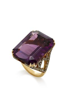 Shop Gold, Amethyst And Diamond Ring. Sylva & Cie's unique craftsmanship is highlighted in this elegant ring. Amethyst And Diamond Ring, Amethyst Jewelry, Gold Diamond Rings, Gems Jewelry, Diamond Jewelry, Silver Jewellery, Fine Jewelry, Diamond Necklaces, Diamond Pendant