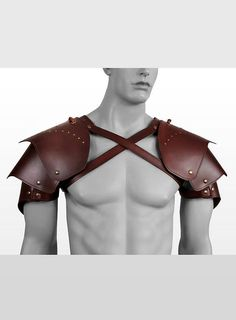 Rogue Leather Shoulder Guards brown