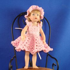 Crochet pattern for Kish Riley doll-lace dress.