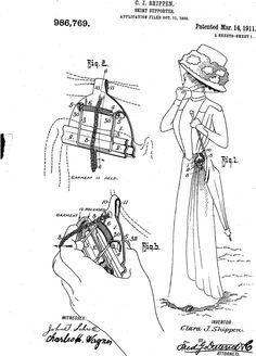 From the Patent Search blog post 'Patents as a social history source: ladies skirt supporters'