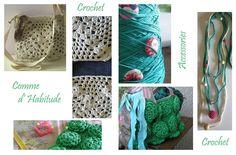 crochet green & ivory  https://www.facebook.com/CommeDHabitudeAccessories