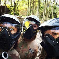 Paintball head shot! #paintball #girls #forgirls #masks #action #field #gear #outfit #woods