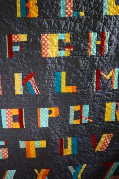 @maritza soto's GORGEOUS alphabet quilt