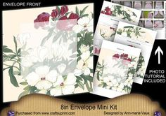 Pretty White Flower Large Blooms 8in Envelope Mini Kit on Craftsuprint - Add To Basket!