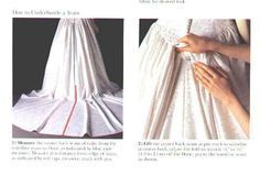 Step-by-step instructions on how to make a French bustle