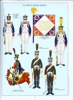 Fanteria e cavalleria del corpo di armata di Marmont