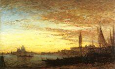 Venise au Crépuscule Felix-Francois-Georges-Philbert Ziem - circa 1875-1880