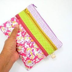 Floral Triple Zipper Pouch Triple Zip Gadget Organizer Bag #etsy #zipperpouch #pretty #floral #pouch Purple Accents, Green And Purple, Gifts For Girls, Gifts For Her, Toiletry Storage, Travel Gifts, Jewelry Organization, Zipper Pouch, Flower Prints