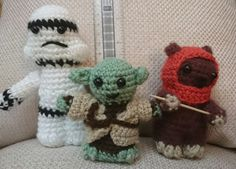 Lucy Collins Star Wars amigurami characters that were made to raise funds for the RAF Benevolent Fund Star Wars Crochet, Crochet Stars, Raise Funds, Star Wars Characters, Toys, How To Make, Activity Toys, Toy