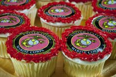 marine corps cupcake edible decals | Small U.S. Marines Edible Image 2.25 (9 pack)  I got these for Javan's graduation