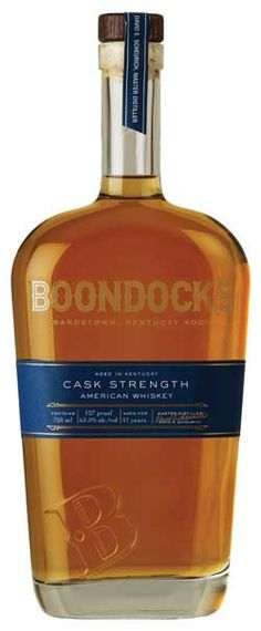 Boondocks American Whiskey Cask Strength 127 Proof has distinctive aromas of rich caramel and vanilla. A robust and pleasantly aggressive palate is highlighted by fall spices and oak that leaves a long-lasting finish.
