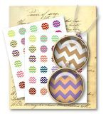 430-Chevron Pattern 1 inch Circle Digital Collage Sheet - Vintage Papers - Digital collage sheets, Vintage Clipart, Printables, Scrapbooking supplies