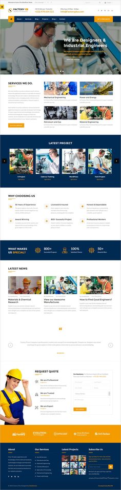 Factory Plus is the best responsive 9in1 #WordPress Theme for #webdev some sectors like industry, #Factories, Construction, Engineering, Machinery Business, Commodity Business, Power, Rail Business, Airplane, Ship Business, Oil & Gas Business, Petroleum websites download now➩ https://themeforest.net/item/avonmore-premium-creative-multipurpose-wordpress-theme/17364678?ref=Datasata