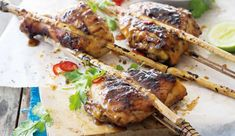 Bamboo - skewered coriander and apricot chicken #UltimateBraaiMaster #picknpay