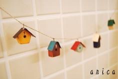 diy crafts birdhouse garland