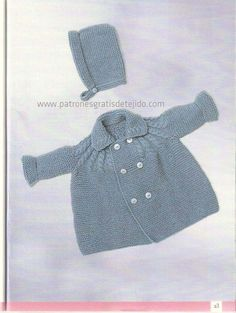 Knitting For Kids, Baby Knitting Patterns, Crochet Baby, Knit Crochet, Baby Pullover, Bebe Baby, Baby Coat, Baby Sweaters, Baby Dress