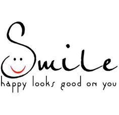 smiles! one size fits all and looks perfect on everyone! ;)
