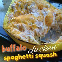 Made4More: Buffalo Chicken Spaghetti Squash