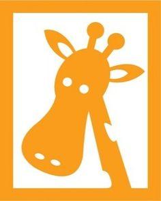 Flockfolie giraf