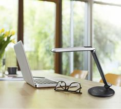 Dimmable LED DESK LAMP Minimalist, multi-functional and eco-friendly, the ultra-sleek Dimmable LED Desk Lamp is a class-leading lighting solution for any work or living space. Touch-Sensitive Control Panel for brightness. Enjoy the perfect brightness every time for working, studying, relaxing or getting ready to sleep. 9 level brightness delivers flicker-free, non-ghosting light that reduces fatigue and eyestrain. Ideal for reducing glare for all ages, it's great in homes and offices.