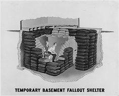 Temporary Basement Fallout Shelter.