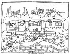 Instant Download Whimsical Travel Trailers Home is by PittStar
