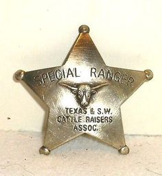 old west deputies   Texas Ranger Old West Police Badge Marshal Sheriff Deputy Company A ...