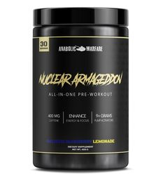 Nuclear Armageddon Pre Workout - Ballistic Berry Lemonade Workout Drinks, Beta Alanine, Pre Workout Supplement, Muscle Protein, L Arginine, Herbal Cure, Muscle Recovery, Blood Vessels, Amino Acids