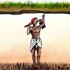 """Check out this project: """"National Farmer Human Figure Sketches, Figure Sketching, Save Earth Drawing, Farmer Painting, Poster Rangoli, Farmers Day, Earth Drawings, Village Photography, India Painting"""