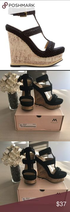 "Shoe Dazzle Natalie Wedge Size 5.5 Shoe Dazzle Natalie Wedge Size 5.5 New in the Box 5"" heel Shoe Dazzle Shoes Wedges"