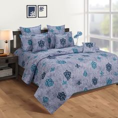 Buy this Aegean Block Print Zinnia Bed in a Bag Set online from WoodenStreet in flat 30% Off WoodenStreet #bedsheetset #bedfittedsheets #beddingsetsonline #cottonbeddingsets #acbeddingsets #summerbeddingsets Bed Sheet Sets, Bed Sheets, Wooden Street, Cotton Bedding Sets, Bedding Sets Online, Bed In A Bag, Amazing Spaces, Bedding Shop