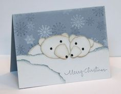 Polar Bear card with punches