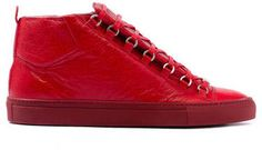 Balenciaga Men's Fall 2011 Sneakers - Guys, listen up, the Balenciaga Men's Fall 2011 sneakers have arrived and they have instantly solidified their status as the 'It' men's shoes of th. Balenciaga Arena Sneakers, Balenciaga Arena High, Balenciaga Mens, Balenciaga Shoes, Me Too Shoes, Men's Shoes, Casual Couture, Sneaker Heels, Men's Sneakers