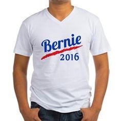 Bernie 2016 Red White and Blu Men's V-Neck T-Shirt> Bernie 2016 in Red, White and Blue> Scarebaby Design