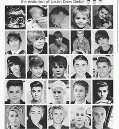 The evolution of Justin Bieber ❤