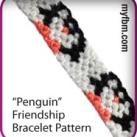 Friendship Bracelet Pattern | Penguin Design | MyFBM.com