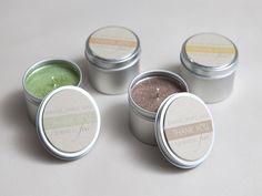 13 DIY Bridesmaid Gift Ideas- Glitter Tin Candles