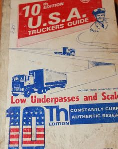 1963 USA Truckers Guide Underpasses and Scales 10th Edition