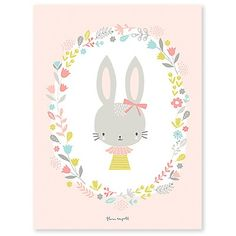 Poster enfant lapins Sweet Bunnies by Flora Waycott x 40 cm), Lilipinso. Grande affiche de la collection Sweet Bunnies by Flora Waycott - Le poster Baby Room Themes, Baby Room Diy, Baby Boy Rooms, Bedroom Themes, Baby Room Decor, Lapin Art, Easter Illustration, Baby Room Neutral, Baby Posters
