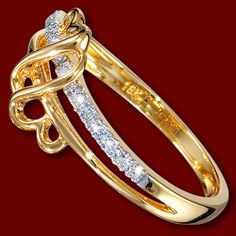 Golden ring, diamonds, wedding ring, heart